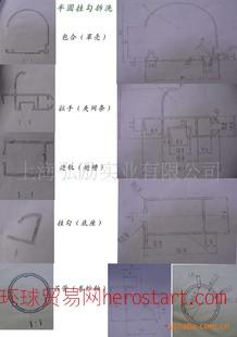 铝合金隐形纱窗图纸(半圆挂勾上下型)