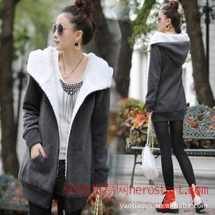 2011冬装韩版新款女装时尚羊羔毛外套休闲保暖棉衣5820