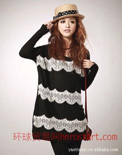 2011春装新款韩版时尚蝙蝠袖针织衫5003
