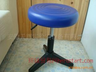 实验室化验室专用pu凳面可升降(气压可升降三角学生用实验凳)
