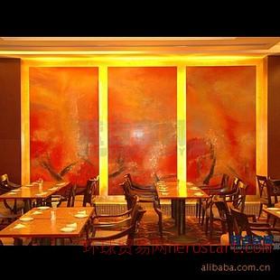 重庆手绘墙,酒店壁画,现代抽象墙绘