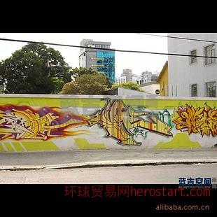 重庆壁画,手绘墙,外墙涂鸦装饰,手绘油画,国画,
