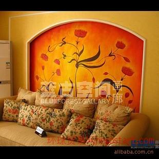 重庆墙绘沙发背景,欧式风格背景墙,