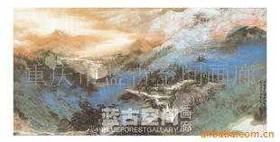 重庆现代山水,彩墨山水,重庆油画,重庆墙绘