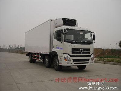 东风天龙4后8冷藏车玻璃钢挂肉车厂家销售
