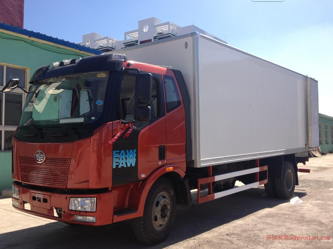 解放冷藏车挂肉车海鲜车厂家销售