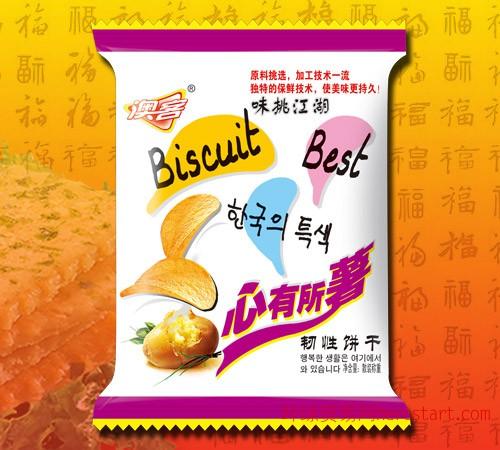 龙海澳客心有所薯优质薄片饼干,龙海散装饼干,福建饼干,漳州休闲食品