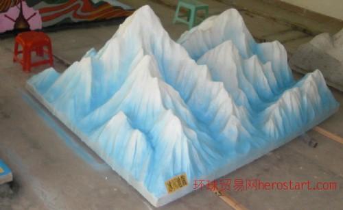 地理模型,地理地貌模型,冰川地貌模型制作