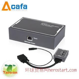 台湾制造Acafa 国瑭 VAE331TR VGA + Audio 影音延长器