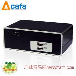 台湾制造Acafa KF101P 单端口 远程管理 IP KVM 电脑切换器 - 双介面(PS/2+USB)全球独一规格