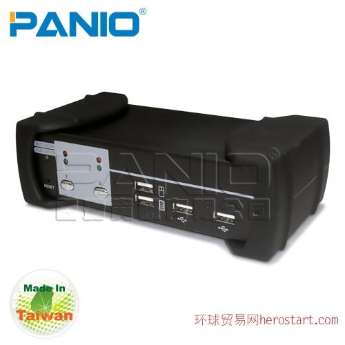 台湾制造Acafa KU02A 2口 USB介面VGA KVM电脑切换器 - 内建2口USB2.0 HUB 支持音频
