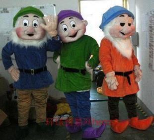 定做行走卡通人偶服装动漫卡通服装7个小矮人