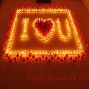 创意气氛 浪漫情侣礼物 玫瑰蜡烛 七夕情人节生日蜡烛结婚纪念