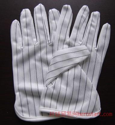 南京防静电手套/防静电点塑手套/双面防静电手套