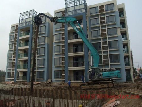 上海打桩机租赁拉森桩钢板桩租赁打拔一条龙服务钢板租赁