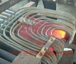 超音频冷拉圆钢扎头加热电炉