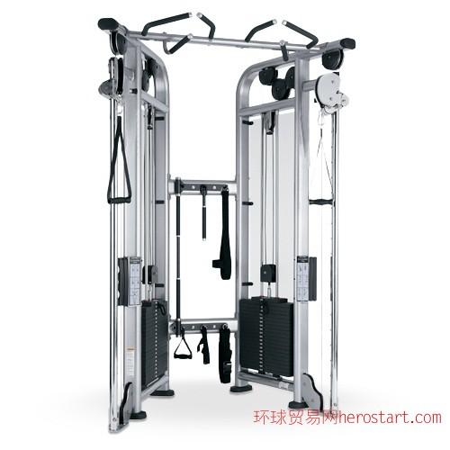 商用健身器材可调式双滑轮多功能训练器