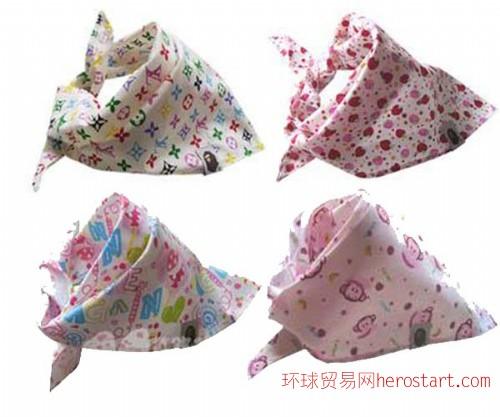 印花儿童方巾围巾厂家