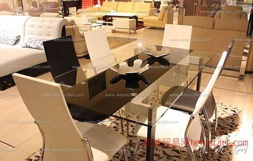 现代简约玻璃餐桌,时尚简约生活:唯优网家具