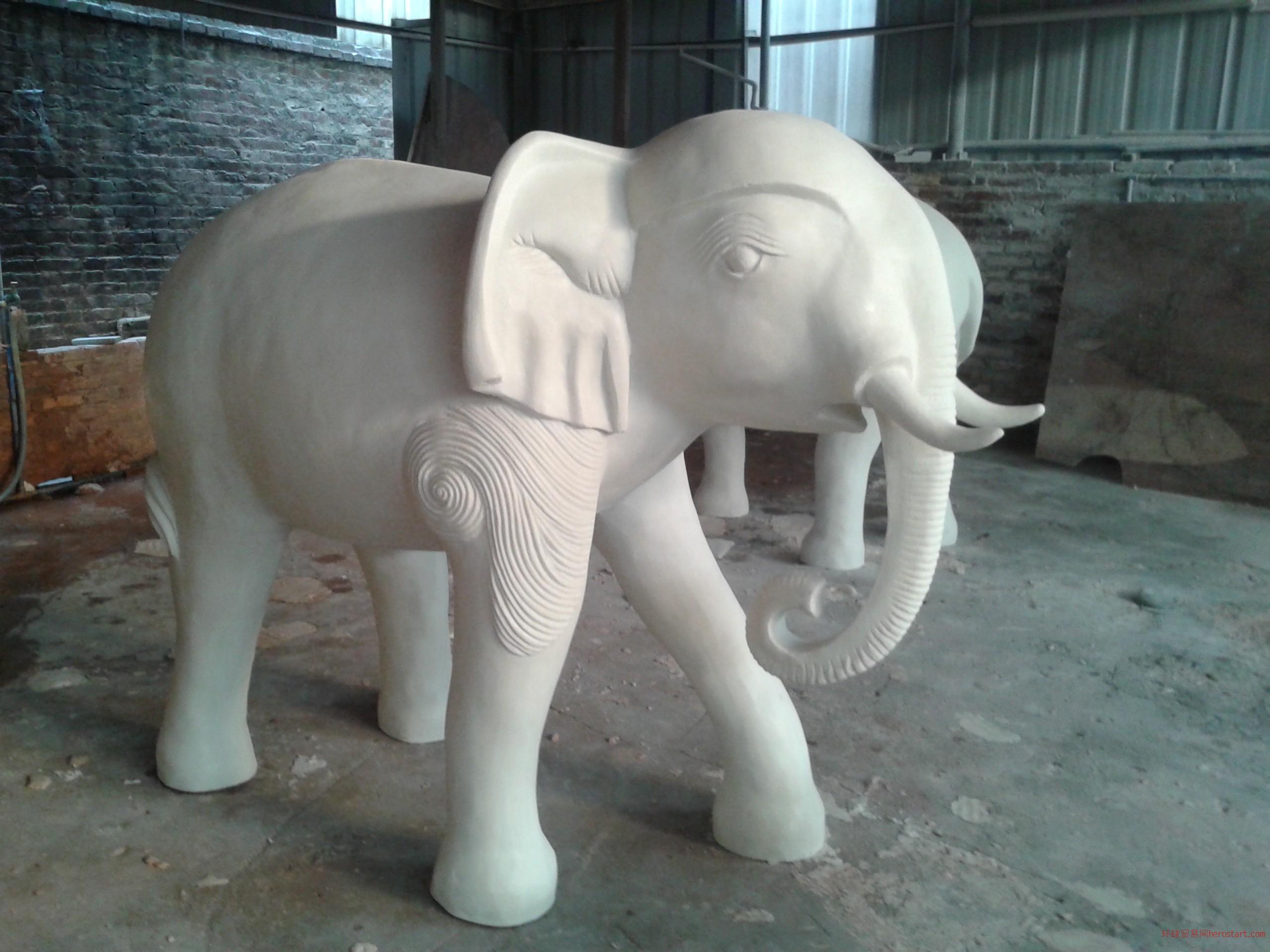大象雕塑園林雕塑仿砂巖雕塑廠