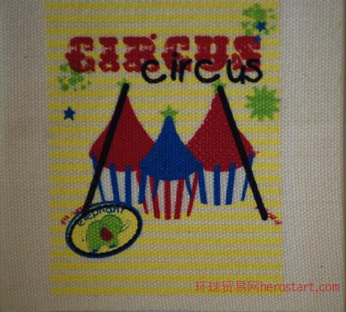 原白棉带5色丝网印刷标2