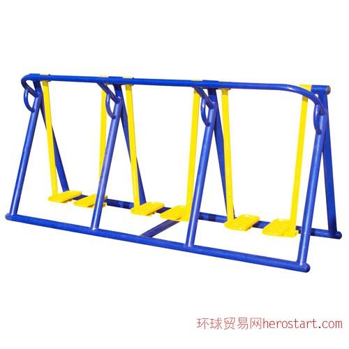 西安广场健身器材-三联漫步机
