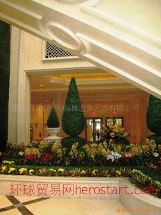 仿真植物 盆栽 绢花 圣诞节