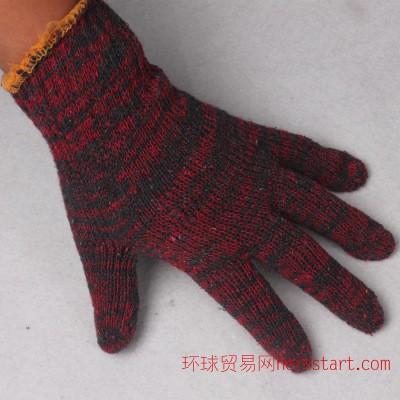 800g劳保手套 耐磨棉纱手套针织棉线手套防护作业红花纱手套