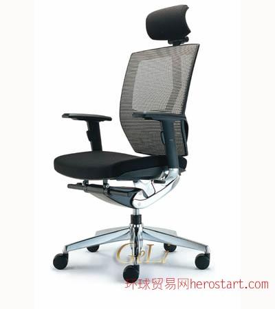 网布大班椅铝合金脚办公座椅办公椅批发