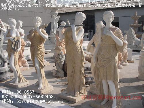 石雕欧式人物女神,小天使雕塑 耶稣雕像,人体雕像