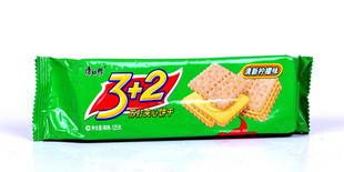 康师傅3+2夹心饼 125g 清新柠檬味