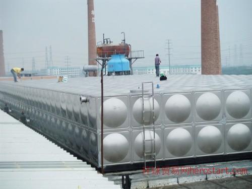 汕头环保公司/600吨不锈钢保温水箱