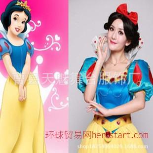 万圣节成人白雪公主与七个小矮人白雪公主裙子成人表演服装