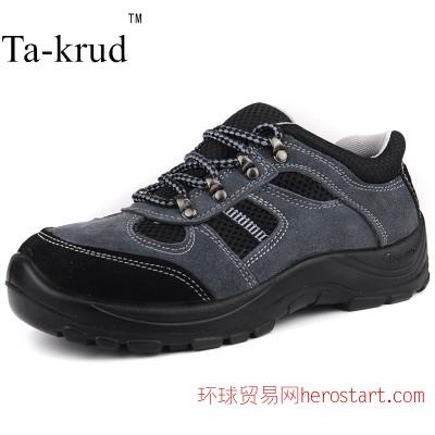真皮仿登山防砸防穿刺劳保鞋工作鞋耐磨新款防滑安全防护鞋