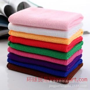 超细纤维 毛巾方巾  擦手巾 口水巾 30X30