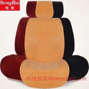 2014新款汽车坐垫冬季 羊毛坐垫 短毛绒车坐垫套 免捆绑 防滑坐垫
