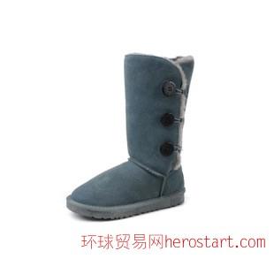 外贸1873雪地靴 欧洲U牌保暖防水防滑纽扣高筒靴女冬款百搭