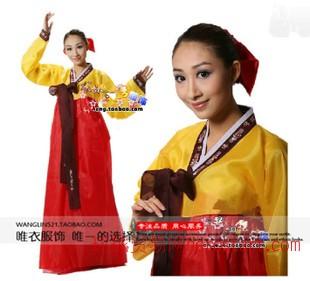 新款朝族舞蹈服韓服表演服民族舞蹈服裝成人演出服 民族演出服