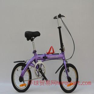 堡丽健i新款拆叠车14寸炫彩单速折叠自行车 变速车 学生车