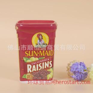 美國 陽光少女加州葡萄干500g*12盒/箱 進口食品