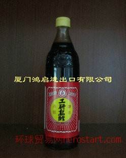 台湾进口食品 工研乌醋600ML*12瓶