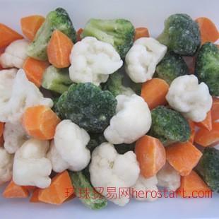 速冻白花菜 绿菜花 胡萝卜混合 高品质冷冻蔬菜质量可靠