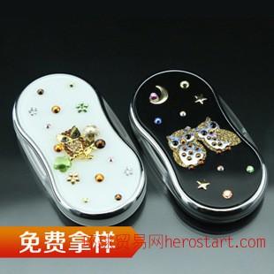 进口货源 日本时尚猫头鹰折叠便携LED灯放大镜凸透镜支持混批