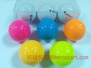 高尔夫彩色双层练习球,彩虹球,洞洞球,高尔夫pu球,空心球