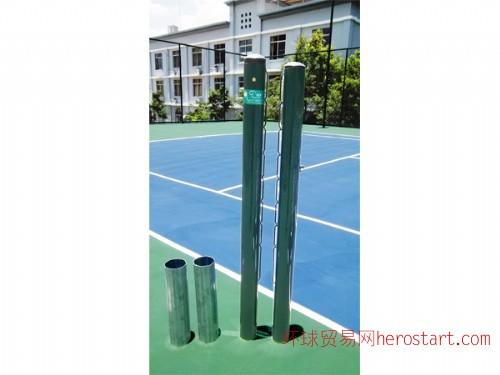 网球场圆形直插式网球柱 AY-007