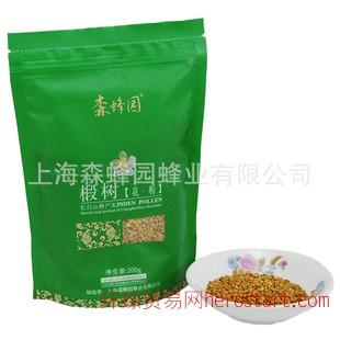 上海名牌 森蜂园蜂蜜 椴树花粉200g 健脑益智OEM贴牌、批发、零售