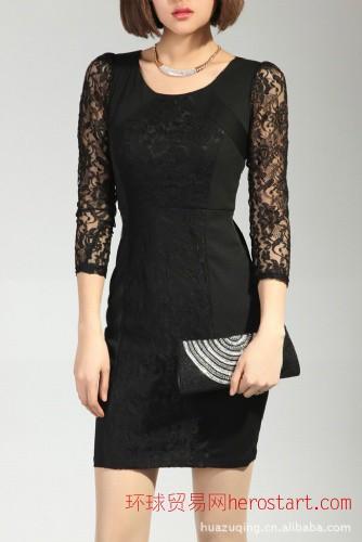 韩版 女装 蕾丝 经典魅力 靓丽美女必备 也适合空调房 连衣裙