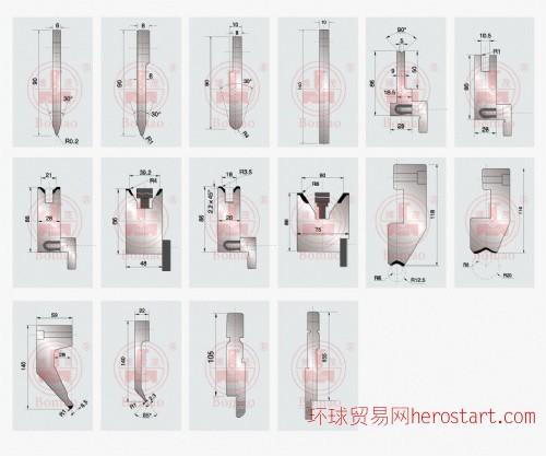 专业生产AMADA、ACL、LVD/金方圆、晔俊、亚威、爱克等品牌刀模配套