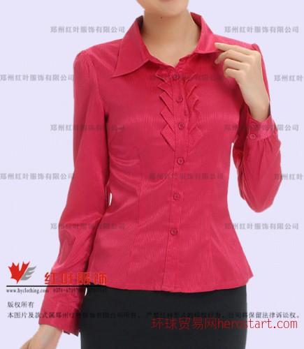 款式新颖的女衬衣-郑州红叶服饰有限公司