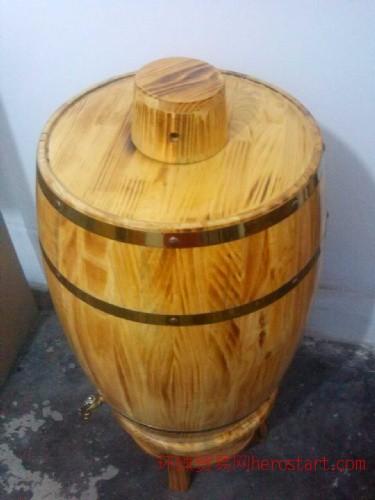 石家庄五岳木酒桶厂供应仿古木酒桶